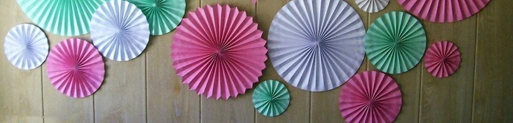 Abanicos / rosetas de papel