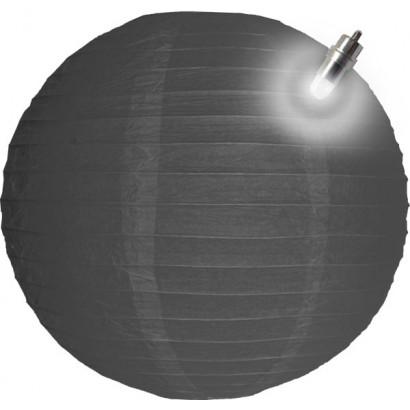 Farolillo de papel LED 30cm gris