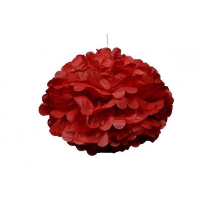 Pompón de Papel 20cm, rojo