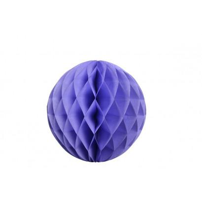 Bola de papel nido de abeja Azul 20cm