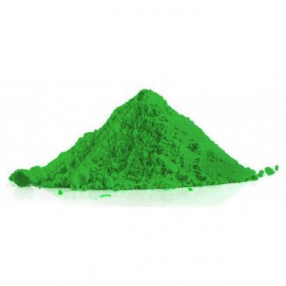 Polvo holi de color verde