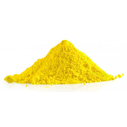 Polvo holi de color amarillo