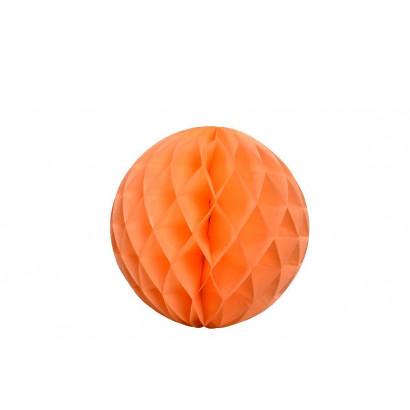 Bola de papel nido de abeja Naranja 30cm