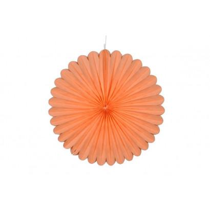 Abanico / roseta de papel blanco 20 cm