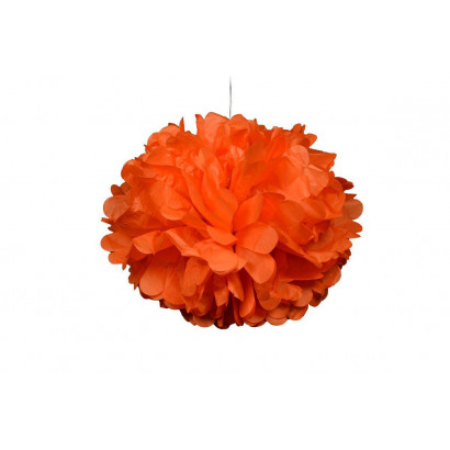 Pompón de Papel 20cm, naranja claro