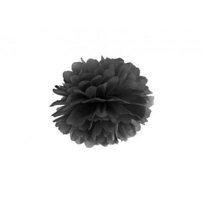 Pompón de Papel 20cm, negro