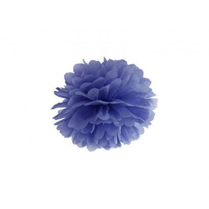 Pompón de Papel 35cm, azul oscuro