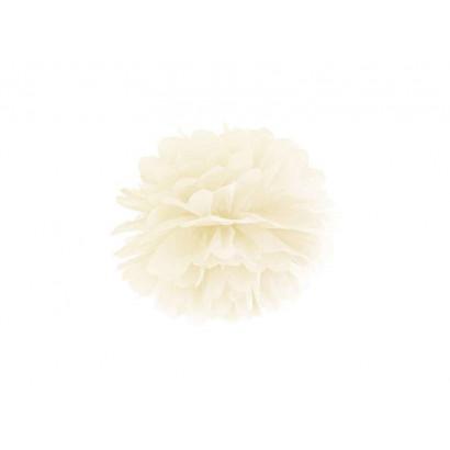 Pompón de Papel 35cm, crema
