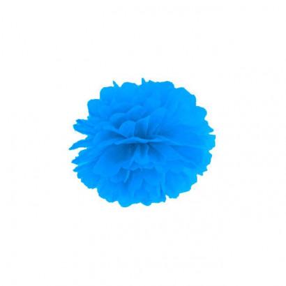 Pompón de Papel 35cm, azul claro
