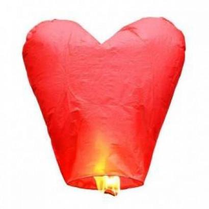 Farolillo Volador Rojo Corazón