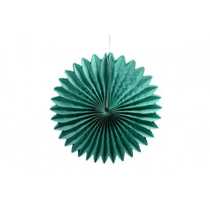 Abanico / roseta de papel verde 30 cm
