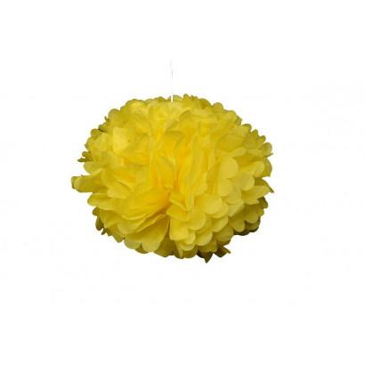 Pompón de Papel 20cm, amarillo