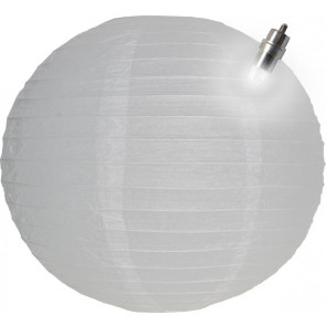 Farolillo de papel LED 30cm blanco