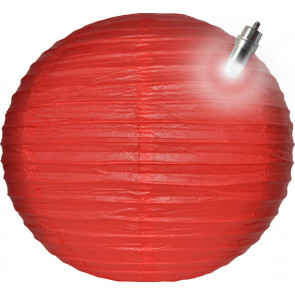 Farolillo de papel LED 25cm rojo