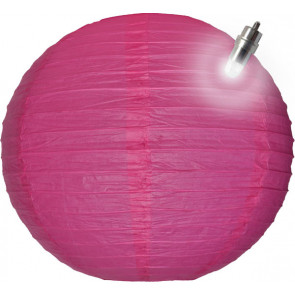 Farolillo de papel LED 30cm fuchsia
