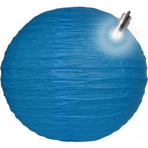 Farolillo de papel LED 30cm azul