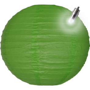 Farolillo de papel LED 30cm verde
