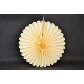 Abanico / roseta de papel 20cm beige