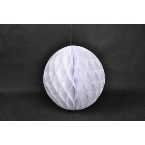 Bola de papel nido de abeja 40cm Blanco