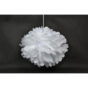 Pompón de Papel 40cm, blanco