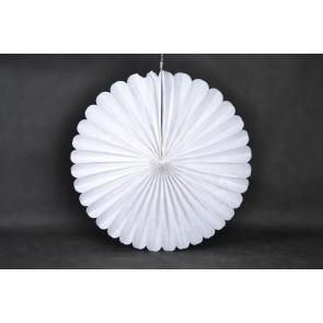 Abanico / roseta de papel 40cm blanco