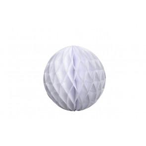 Bola de papel nido de abeja Blanco 20cm