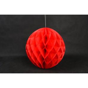 Bola de papel nido de abeja 30cm Rojo