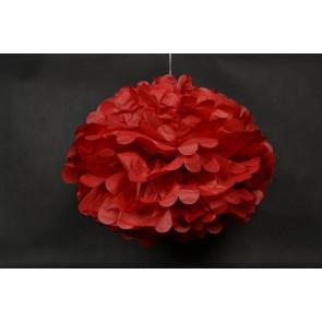 Pompón de Papel 40cm, rojo