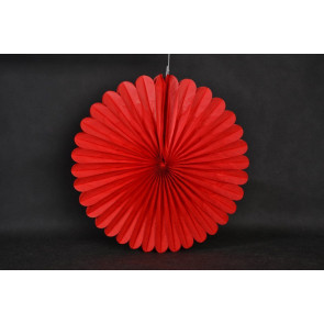Abanico / roseta de papel 40cm rojo