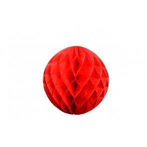 Bola de papel nido de abeja Rojo 20cm