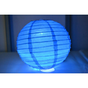 Farolillo de papel LED 50cm azul