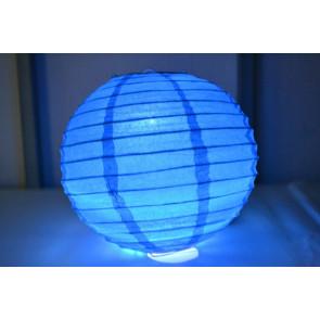 Farolillo de papel LED 20cm azul