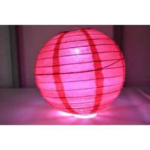 Farolillo de papel LED 30cm rojo