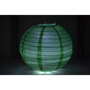 Farolillo de papel LED 40cm verde