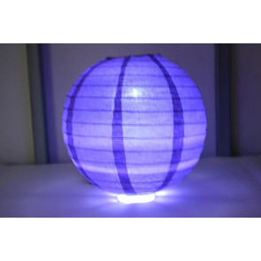 Farolillo de papel LED 30cm violeta