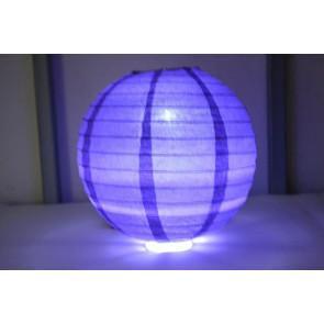 Farolillo de papel LED 30cm violeta