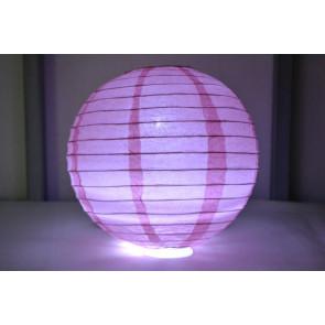 Farolillo de papel LED 30cm rosa