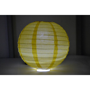 Farolillo de papel LED 30cm amarillo