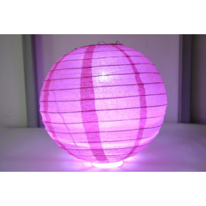Farolillo de papel LED 40cm fuchsia