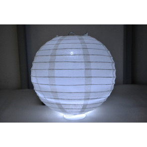 Farolillo de papel LED 40cm blanco