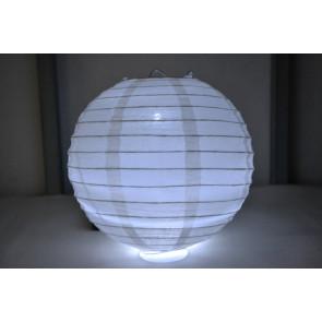 Farolillo de papel LED 30cm blanco