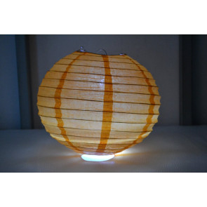 Farolillo de papel LED 40cm naranja