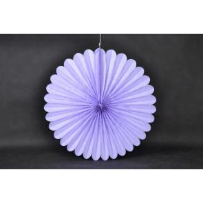 Abanico / roseta de papel 40cm violeta