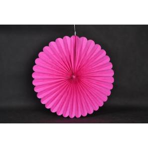 Abanico / roseta de papel 40cm fuchsia