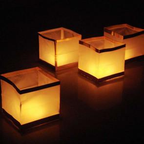 10 Farolillos Flotantes Blancos - Forma De Cubo (1.10 €/uds.)