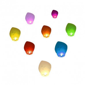 Calidad SUPERIOR 10 Farolillos Voladores surtido de colores ECO