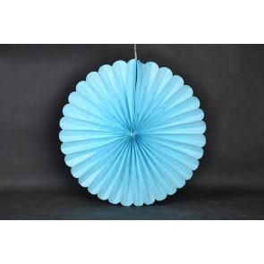 Abanico / roseta de papel 50cm azul