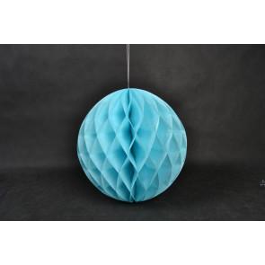 Bola de papel nido de abeja 30cm Azul