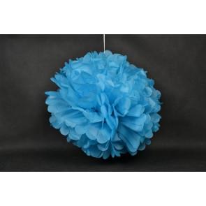 Pompón de Papel 40cm, azul