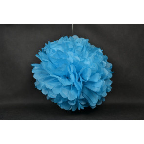 Pompón de Papel 50cm, azul